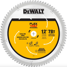 Dewalt 12 inch 78 Teeth Carbide Miter Circular Saw Blade Wood Fine Finish Tool