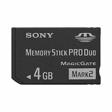 4 GB Memory Stick PRO Duo Mark 2 Sony 4GB ProDuo Mark2 SONY NEU