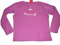 Esprit tolles Langarm Shirt Gr. 104 / 110 rosa mit Kronen Motiv !!