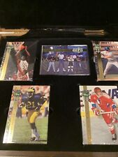 1992 Four Sport Gold Draft Pick Collection With Wooden Box Shaq Auto /9500