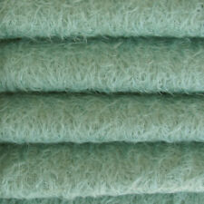 """1/6 yd 300S/CM Teal INTERCAL 1/2"""" Ultra-Sparse Curly Matted Mohair Plush Fabric"""