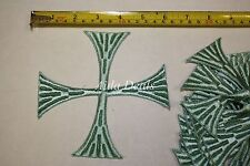 "(12 pcs) Iron Embroidered Religious Patch Blue Cross 5""1/2 x5""1/2 (Design #0023)"