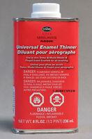 TESTORS UNIVERSAL ENAMEL PAINT THINNER 8OZ airbrushing airbrush cleaner TES8824