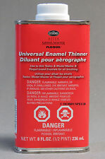 TESTORS UNIVERSAL ENAMEL PAINT THINNER 8OZ airbrushing airbrush cleaner TES 8824