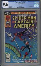 Marvel Team-Up # 106 CGC 9.6 Captain America Appearance FRANK MILLER COVER