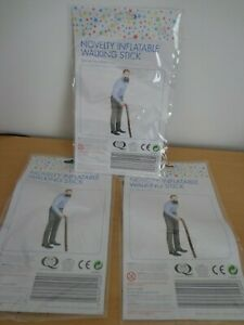 3 x Novelty inflatable walking sticks great fun gifts or fancy dress accessory