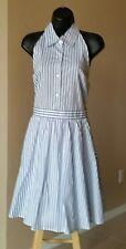 SUMMER Sleeveless racerback dress SIZE LARGE, BLUE & WHITE