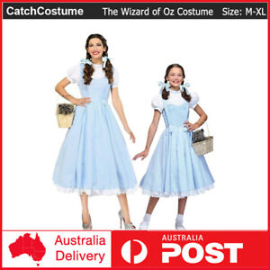 Classic The Wizard of Oz Costume Dorothy Children Book Week Girl Dress Halloween