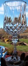 "7 Perfect Cristal d'Arques Durand LONGCHAMP 24% LEAD CRYSTAL WINE GOBLETS 6.5"""