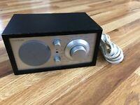 Tivoli Audio Henry Kloss Model One Am/ FM Table Radio, Black/Silver