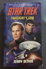 Star Trek Twilight's End Paperback Novel