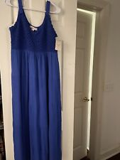 LADIES STUDIO WEST APPAREL BLUE MAXI DRESS SIZE L NWT