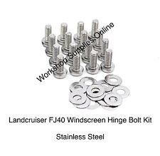 Toyota Land Cruiser FJ40 Series Bolt Kit - Windscreen Hinge - 32 Pcs Stainless