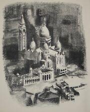 Robert DELAUNAY - lithographie originale - Paris, le Sacré Coeur