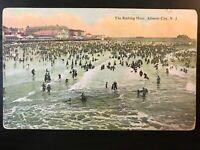 Vintage Postcard>1907-1915>The Bathing Hour>Atlantic City>N.J.