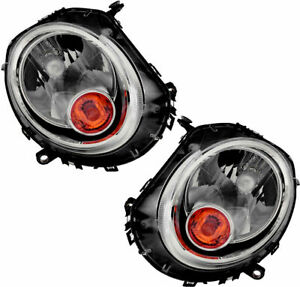 FITS FOR MINI COOPER 2007 - 2013 HEADLIGHTS (HALOGEN) RIGHT & LEFT PAIR SET