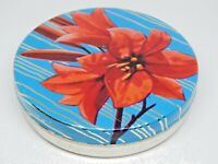Vintage Soviet Empty Candy Tin Box - Flowers, USSR 1970s. Good vintage condition