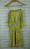 Seed Heritage dress yellow white floral print size 8