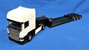 Joal 383 Scania R Topline w/Lowboy White & Black 1/50 Die-cast MIB