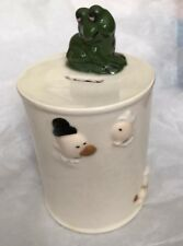 Vintage 1975 Ceramic King Features Syn. Popeye Spinach Can Coin/Piggy Bank: Frog
