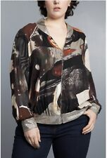Jean Marc Philippe Jacket/Top Plus Size 20 Taupe Gold / Multi Color