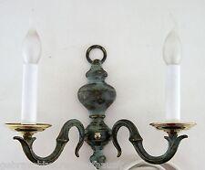 Design Wandleuchter 2flg.Wohnlicht Wandlampe Metall antiker Stile