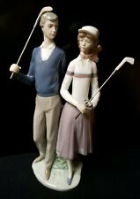 "Lladro #1453 Golfing Couple Retired Spain 13.5"" inches in Height excellent"