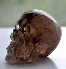 Natural Smoke Quartz Crystal Carving Skull , Crystal Hand-carved skulls healing