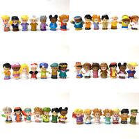 "Random Lot 10pcs Toy Fisher Price Little People 2.0"" Figures Baby Boy Girl Dolls"