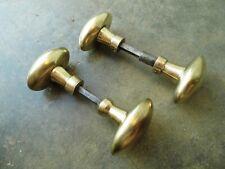 2 ensembles poignées de porte en laiton,serrure ferrure loquet targette penture