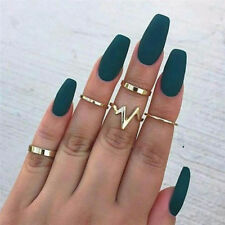 5Pcs/Set Women Fashion Gold Above Knuckle Finger Ring Band Midi Rings Hot