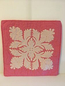 """Hawaiian handmade quilt pillow cover 16""""/16""""with free shipping"""