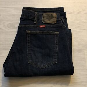 Wrangler Regular Fit Denim Jeans Dark Stonewash 34W X 32L Good Used Condition