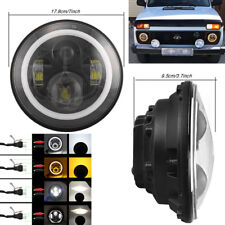 "7"" 50W LED Round Headlight H4 H13 DRL Hi/Lo Lamp For Jeep Wrangler Hummer Harley"