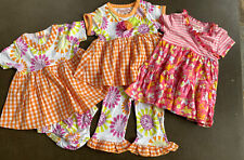 Girls 24 Months Boutique Baby Lulu Lot of 3 Dress & 2 Outfits New Ruffle 2pc