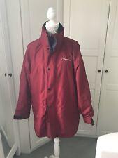 Berghaus Red Hooded Coat Size L Gore Tex Jacket Waterproof