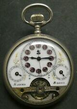 Antique SPIRAL BREGUET SWISS Pocket Watch 8 Days 8 Jours OF