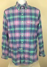 VINEYARD VINES Crosby Wild Purple Green Plaid Button Front Shirt - Size M EUC
