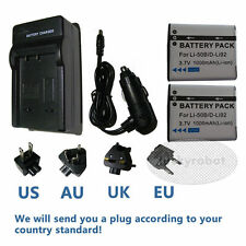 2X Battery + charger for Olympus LI-50B TOUGH-8000 8010 6020 6010 6000