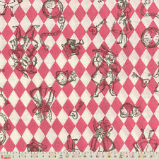 Cotton Fabric  Fat Quarter Lecien - Girls Story - Alice In Wonderland Harlequin