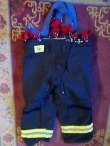 MORNING PRIDE 1490 Turnout Fireman Pants, Black 40 In X 29 in. Never worn. 6/96