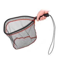 Fly Fishing Net Hand Nets Landing Mesh Trout Soft Rubber Catch Release Scoop Net