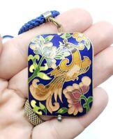 Vintage  Cloisonne Enamel Phoenix Necklace Oriental