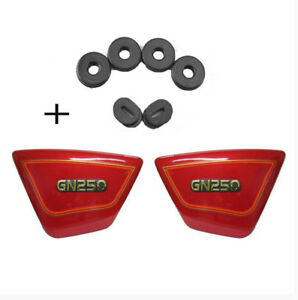 ABS Plastic Frame Side Cover Fairing Panels For Suzuki GN250 1982 - 2001 Red