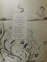 1922 Completo Talla William Blake Grande Estampado Thomas GRAY'S Poema Ode
