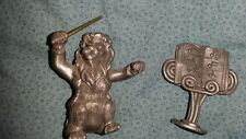 Schmid Fine Pewter 1978 Figurines 0040 Lion And Stand (Pdtop)
