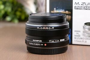 Olympus M.Zuiko 17mm f/1.8 AF ED Lens MFT Micro Four Thirds w/Caps & Box