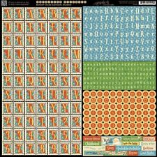 Graphic 45 Mother Goose Collection 12 x 12 Cardstock Alphabet Letter Stickers