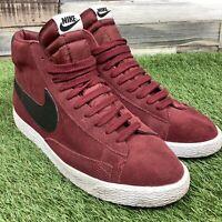 UK9 Mens Nike Blazer Hi Top Trainers - Retro Style Red/Black Shoes US10