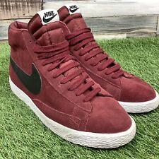 UK9 Mens Nike Blazer Hi Top Trainers - Retro Style Red/Black Shoes US10